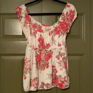 Anthropologie tshirt with floral print Size M